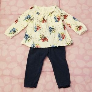 EUC! Baby Gap Long Sleeve Top & Leggings Set
